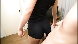 jizz flows  Spandex Assjob (Part #6)