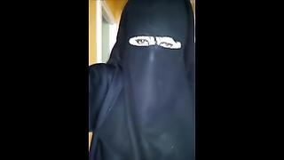 Under my djelaba in niqab