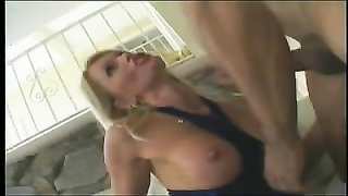 Blond bimbo getting double teamed