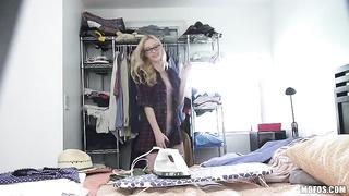 blondie inexperienced Spied on by Webcam