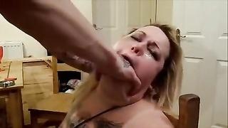 128947big beautiful chick soiled british schlong cruel massager face drilled wench