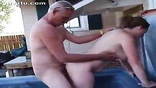 My Boss bangs My wifey  In the Outdoor Spa