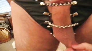 My wifey  Plays with My chained prick