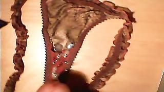 spunk  on my gf's panty