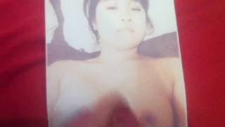 mate did a jizz tribute to my girl pic