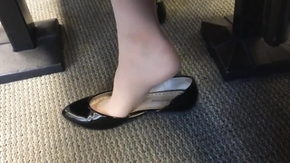 impersonal US College teen Shoeplay Feet dangling in Nylons PT 5
