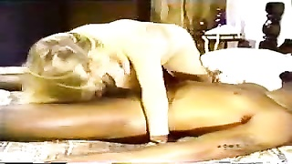 blondy white wifey  with sunless lover - Homemade Interracial Cuckold Vintage
