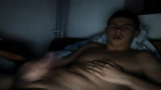 147073well steamy Romanian bf milks His large dick On Cam