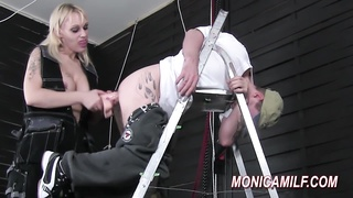 steaming pegging and bootie smashing by Norwegian MonicaMilf