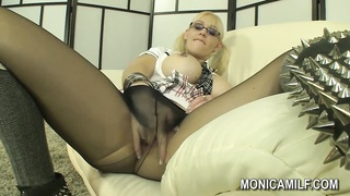 Norwegian Monicamilf in a nylon panty hosepipe  gig  - monotonous Norsk
