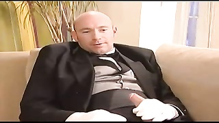 young Liza tiresome, French maid double penetration  bang