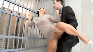 French Sandra penetrated in Jail