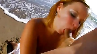 French BBW Gets Her caboose  banged on the Beach