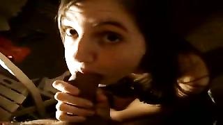 scorching French girl enjoys guzzling  large Egyptian prick