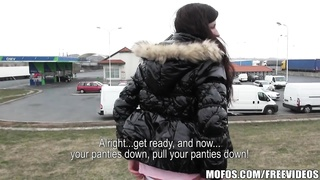 1 lucky delivery driver picks up a insane  Czech hitchhiker