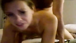 wife takes creampie after plumb from bum, orbs  swing