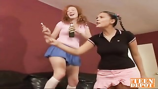 teenage  baby sitters  in super hot 3some