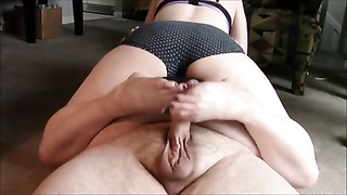Dogstyle footjob