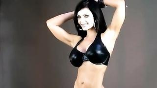 160912Denise Milani in Latex bikini - non nude