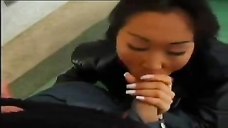 Mongolian hotty Timea deepthroats man-meat outdoor