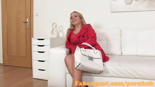 FakeAgent big big-chested yellow-haired give lubricious hooter jack  in Casting interview