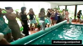 Shameless party honeys  gets plowed at poolside