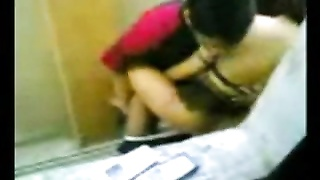 Indonesian Maid plumb With Pakistani stud in Hong Kong Public Toilet