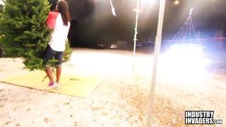 Jayla Foxx smashing at a Xmas Tree Lot