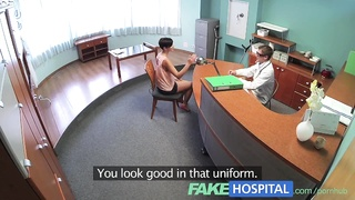 FakeHospital huge-titted ex porn starlet  uses her improbable sexual skills and bod to
