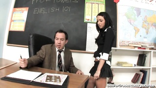 insatiable Schoolgirl nailed By Teacher!