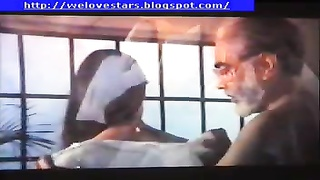 168758beautiful girl with old man in indian movie