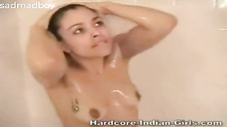 cute indian teen in shower