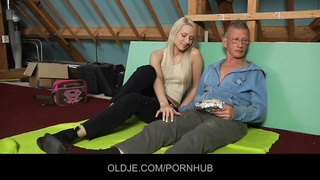 introverted oldman seduced and banged by fearless hussy blondie