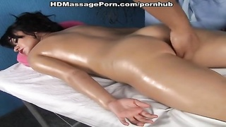 hot sex session during rotund bod massage