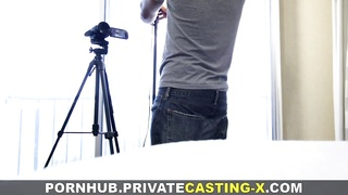 Private Casting-X - Teeny welcomes pecker for cash