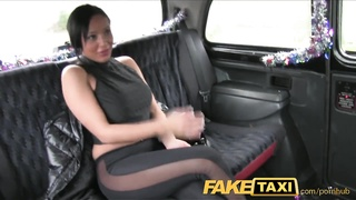 FakeTaxi big melons babe has hookup with taxi driver