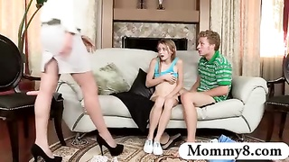 teens fucking and get caught by her stepmom