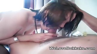 UK amateur facial jizz shot party