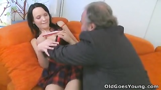 She loves having hook-up  with ancient boy