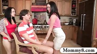 bossy stepmom sploogs teen couple plumbing