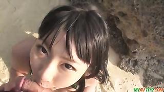 Megumi Haruka youthfull  chinese mitt  job and blowjo