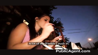 PublicAgent - exceptional outdoor hookup with beauty