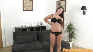 FakeAgent sweet 19 year old woman in casting