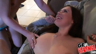 Ex-girlfriend and her best mate! Facial jizz shot