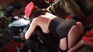 Nazi cunt gets plumbed by a chubby unlit dick in the donk