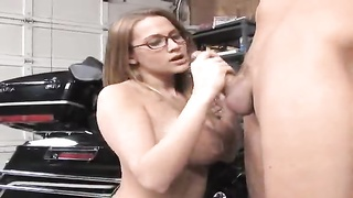 hand job and cum on my glasses