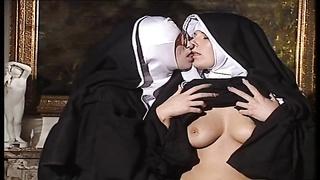 lezzie Nuns lick each other