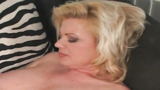 lovely blonde mummy  poking  younger monster and taking facial