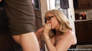 Nina catches her son's buddy