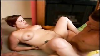 plump plump girl with red hair deep-throating and railing  cock- P2